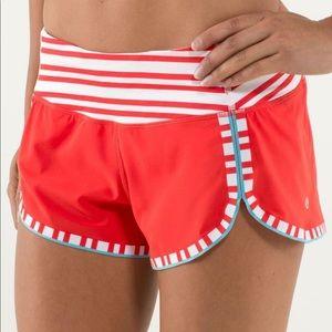Lululemon Run Racer Shorts Love Red
